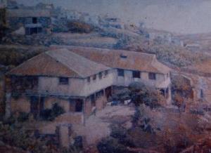 Casa donde residía Simón Acosta, Valverde. Autor del cuadro Manolo Sánchez.